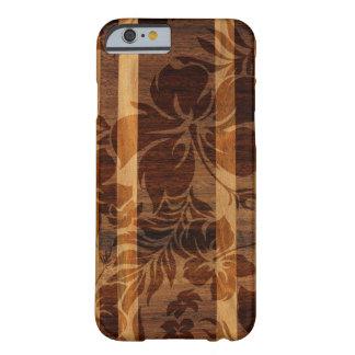 Tabla hawaiana de madera de la playa de Keokea Funda Para iPhone 6 Barely There