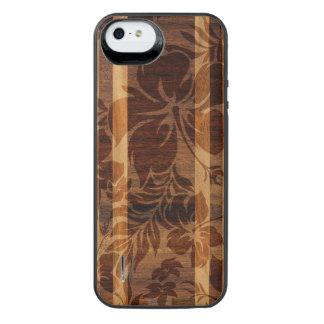 Tabla hawaiana de madera de la playa de Keokea Funda Con Bateía Para iPhone SE/5/5s