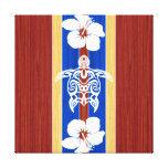 Tabla hawaiana de madera falsa tribal de Honu Lona Estirada Galerias