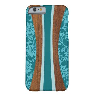 Tabla hawaiana de madera hawaiana de Laniakea Funda De iPhone 6 Barely There