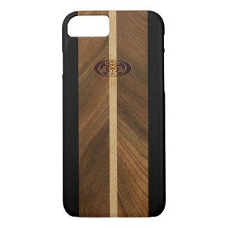 Tabla hawaiana de madera hawaiana del punto rocoso funda iPhone 7