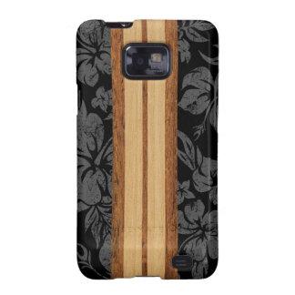 Tabla hawaiana del Hawaiian de la playa de la pues Samsung Galaxy SII Carcasa