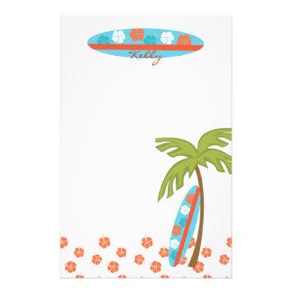 Tabla hawaiana del hibisco personalized stationery