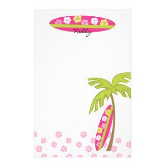 Tabla hawaiana del hibisco papeleria