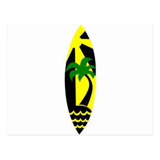 Tabla hawaiana - practicando surf postal