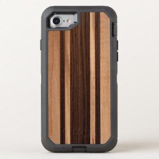 Tabla hawaiana rayada de madera hawaiana de funda OtterBox defender para iPhone 7