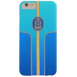 Tabla hawaiana retra azul de Tiki Funda De iPhone 6 Plus Barely There