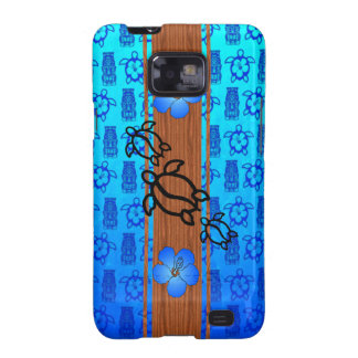 Tabla hawaiana retra de Honu Samsung Galaxy SII Carcasa
