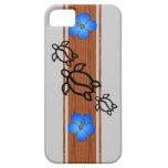 Tabla hawaiana retra de Honu iPhone 5 Case-Mate Cárcasas