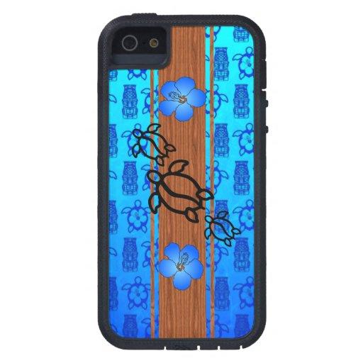 Tabla hawaiana retra de Honu iPhone 5 Funda