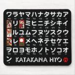 Tabla japonesa de las katakanas (alfabeto) tapete de ratones
