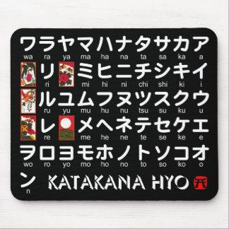 Tabla japonesa de las katakanas (alfabeto) mouse pad