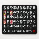 Tabla japonesa de los Hiragana (alfabeto) Mousepads