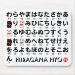 Tabla japonesa de los Hiragana (alfabeto) Tapetes De Raton