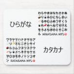 Tabla japonesa de los Hiragana y de las katakanas  Tapete De Ratón