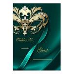 Tabla Jeweled trullo PlaceCard de la mascarada del Tarjeta De Visita