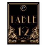 Tabla negra número 12 del estilo de Gatsby del art Postales