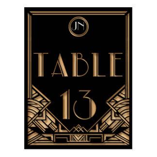 Tabla negra número 13 del estilo de Gatsby del art Postales