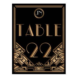 Tabla negra número 22 del estilo de Gatsby del art Postales