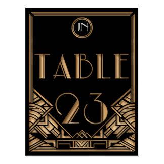 Tabla negra número 23 del estilo de Gatsby del art Postal