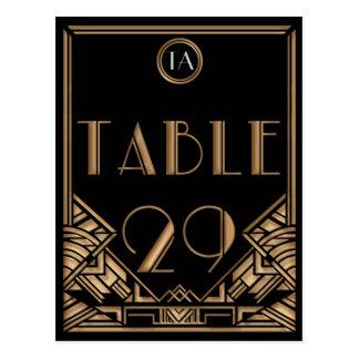 Tabla negra número 29 del estilo de Gatsby del art Tarjeta Postal