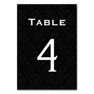 Tabla negra número 4 del boda del damasco