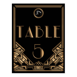 Tabla negra número 5 del estilo de Gatsby del art  Tarjeta Postal