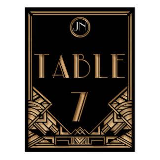 Tabla negra número 7 del estilo de Gatsby del art  Postales