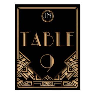 Tabla negra número 9 del estilo de Gatsby del art Postal