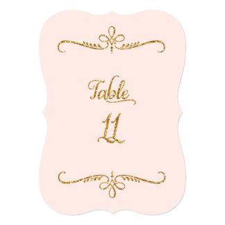 """Tabla número 11, recepciones de lujo de las letras invitación 5"""" x 7"""""""