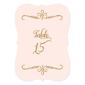 """Tabla número 15, recepciones de lujo de las letras invitación 5"""" x 7"""""""
