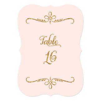 """Tabla número 16, recepciones de lujo de las letras invitación 5"""" x 7"""""""