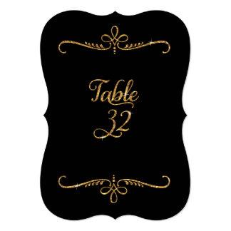 """Tabla número 32, recepciones de lujo de las letras invitación 5"""" x 7"""""""