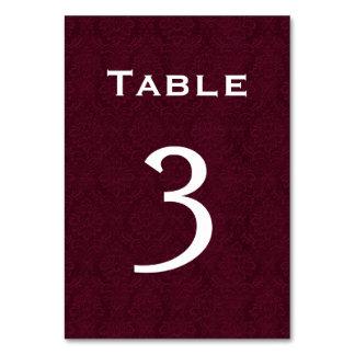 Tabla número 3 del boda del damasco del vino