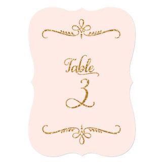 """Tabla número 3, recepciones de lujo de las letras invitación 5"""" x 7"""""""