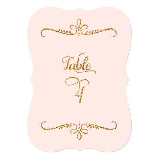 """Tabla número 4, recepciones de lujo de las letras invitación 5"""" x 7"""""""