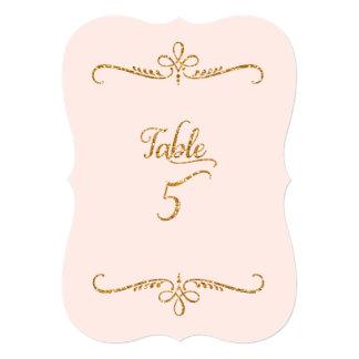 """Tabla número 5, recepciones de lujo de las letras invitación 5"""" x 7"""""""