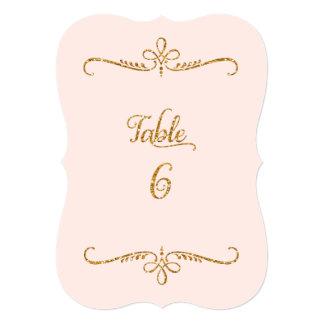 Tabla número 6, recepciones de lujo de las letras invitación 12,7 x 17,8 cm