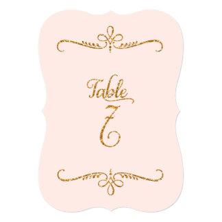 """Tabla número 7, recepciones de lujo de las letras invitación 5"""" x 7"""""""