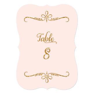 """Tabla número 8, recepciones de lujo de las letras invitación 5"""" x 7"""""""