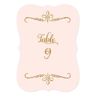 Tabla número 9, recepciones de lujo de las letras invitación 12,7 x 17,8 cm