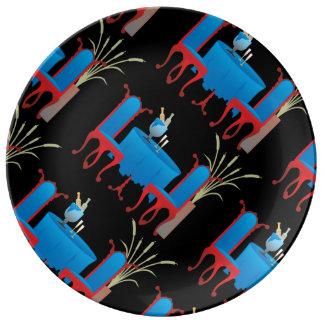 Tabla para la placa de la porcelana dos platos de cerámica
