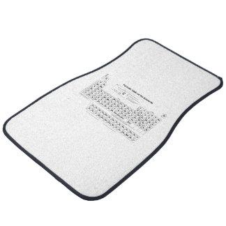 Tabla periódica alfombrilla de auto