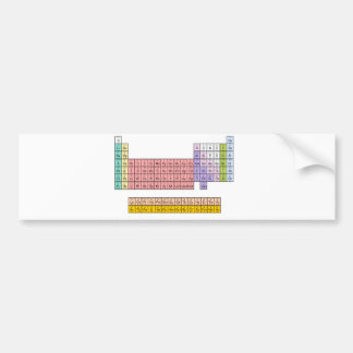 Tabla periódica etiqueta de parachoque