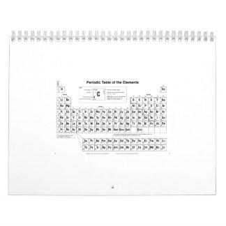 Tabla periódica calendarios