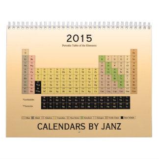 Tabla periódica de calendario de los elementos