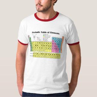 Tabla periódica de camiseta del campanero de los polera
