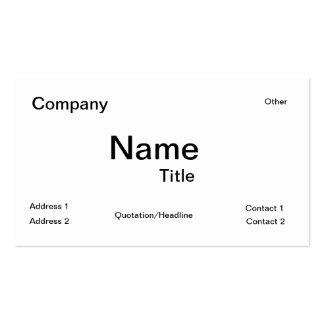 Tabla periódica de IUPAC de la tarjeta de visita d