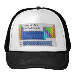 Tabla periódica de la ciencia de regalos de los el gorras de camionero