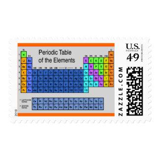 Tabla periódica de la ciencia de regalos de los sello postal